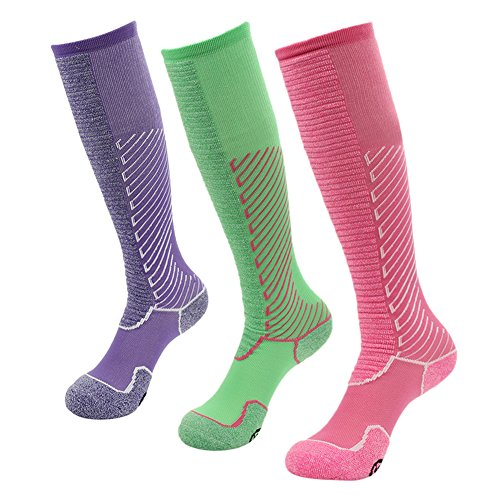 Gmark Womens 3 Pairs Stockings and Foot Care-There was Slim Walk Satisfaction One Size Multicoloured