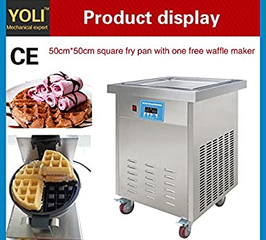 Yoli® Thai frito máquina de helado, Ice Crema rollo Panificadora, frito cuadrados de