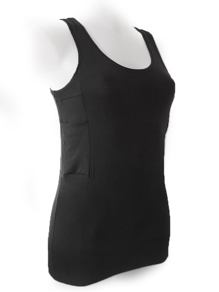 Diabetes Tank Top with Pockets for Insulin Pump (L) by ANNAPS