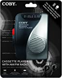 Coby CVR28 5-Key Cassette Recorder with AM/FM Radio and Stereo Earbuds