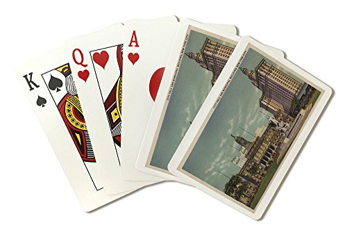 New York, NY - City Hall and Municipal Building (Playing Card Deck - 52 Card Poker Size with ()