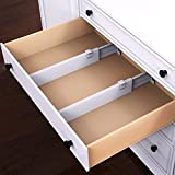 Expandable Drawer Divider and Organizer - Set of 2 Adjustable Household Separators for Kitchen, Dresser, Bedroom, Bathroom and More by Lavish Home