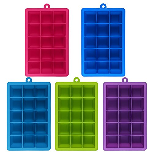 Money coming shop 5 colors DIY Creative Big Ice Cube Mold Square Shape Silicone Ice Tray Fruit Ice Cube Maker Bar Kitchen Accessories