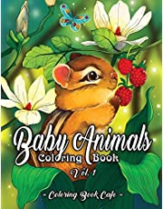 Baby Animals Coloring Book: An Adult Coloring Book Featuring Super Cute and Adorable Baby Woodland Animals for Stress Relief and Relaxation Vol. I: 1