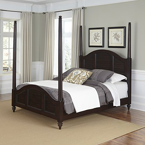 Bedroom Mahogany Poster Bed - Home Styles Model 5542-520 Bermuda Poster Bed, Queen, Espresso Finish