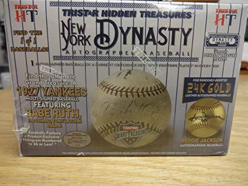 2019 Tristar Hidden Treasures Autographed Baseball New York Dynasty Edition Hobby Box