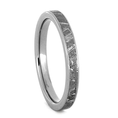 5c72b0754d9 Image Unavailable. Image not available for. Color  Jewelry By Johan Women s  Meteorite Wedding Band ...