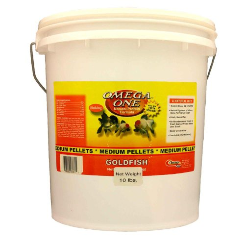 Omega One Medium Sinking Goldfish Pellet Fish Food 10-Lbs. by Omega One