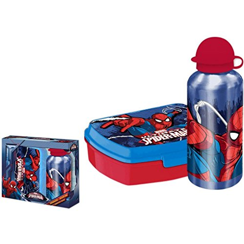 Marvel Spiderman Brotdose und Aluminium Trinkflasche Set: Amazon.de ...