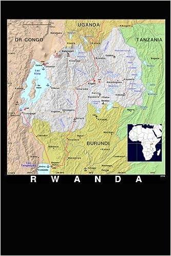 Africa Map Showing Rwanda.Modern Day Color Map Of Rwanda In Africa Journal Take Notes