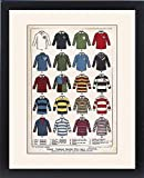 Framed Print of Some Famous Rugby Football Jerseys