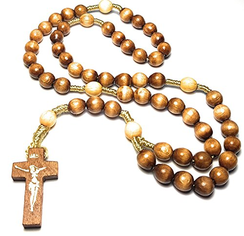 ROSARY Hail Mary Lord's Prayer Glory Be Mystery Rosary Jesus Mary Santo Rosario Jesucristo blessed by POPE EMERITUS BENEDICT XVI (olive)