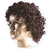 Brown Curly Mens' Wig