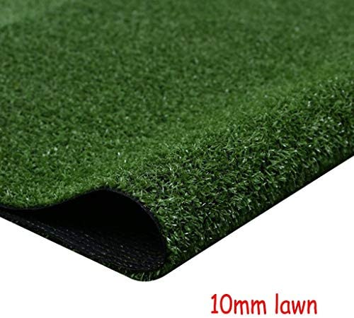 XEWNEG 非フェージング防水10ミリメートルグリーン人工ターフは、屋内と屋外の装飾、幅2メートルの場合は、カット、ペットカーペットフェイク芝生マットすることができます (Size : 2x8M)