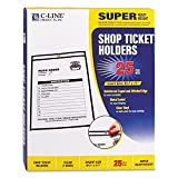 CLI46911 - C-Line Stitched Plastic Shop Ticket Holder