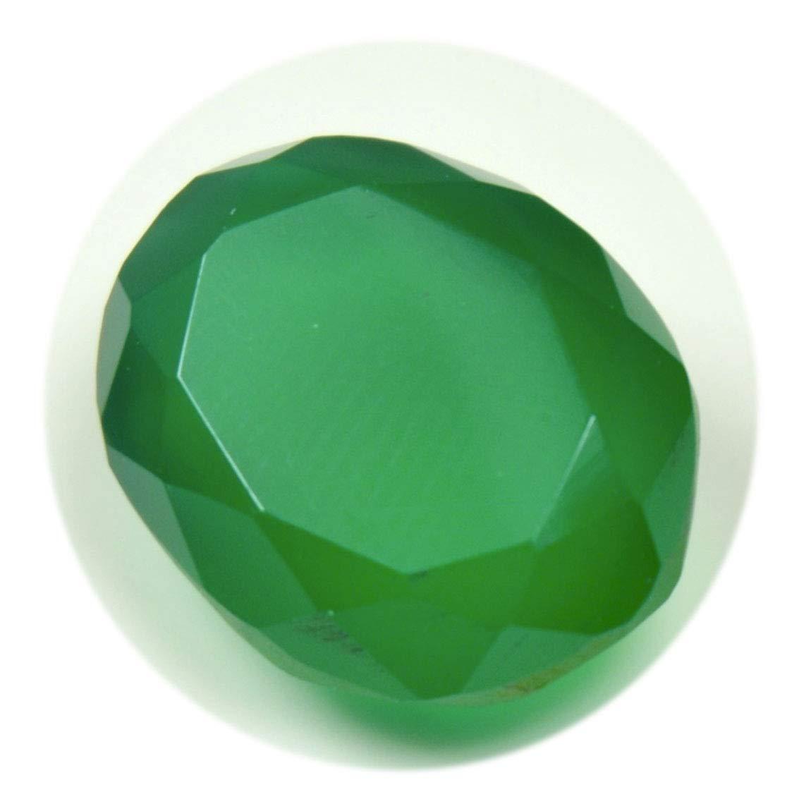 CaratYogi 14X12 MM Onyx Vert Naturel Pierre pr/écieuse taill/ée Ovale taill/ée en Pierre /à facettes pour lart et lartisanat