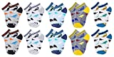 CHUNG Little Boys Thin Half-Mesh Low Cut Ankle Height Socks Summer 2-9Y Dinosaur, 10pk NJ-01,2-4Y