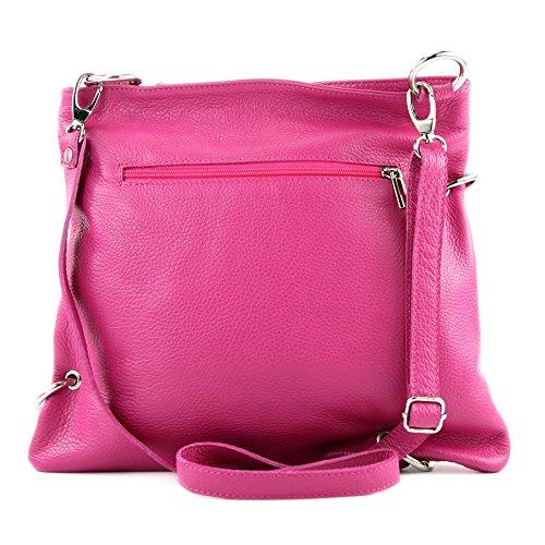 sac en en NT07 de Messenger cuir dames 2in1 modamoda ital Pink sac sac à cuir bandoulière sac wCgI4Xq