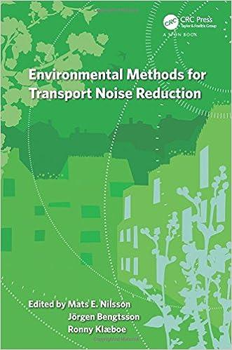 Descargar Con Utorrent Environmental Methods For Transport Noise Reduction En PDF