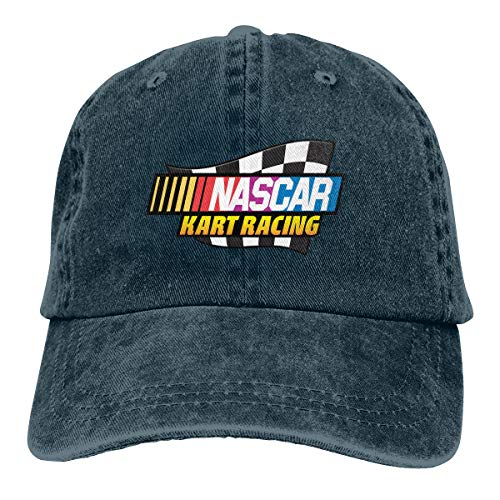 HQFMEVVU Nascar Kart Racing Baseball Caps Adjustable Hat Denim Fabric Navy
