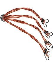 COM-FOUR® rubberspanner 8-armig - bagagespanner - spantouw met haak - spanrubbers voor fietsen, auto's - bagagespin met 2 haken per rubber - 84 cm (8 armen - kleur varieert)