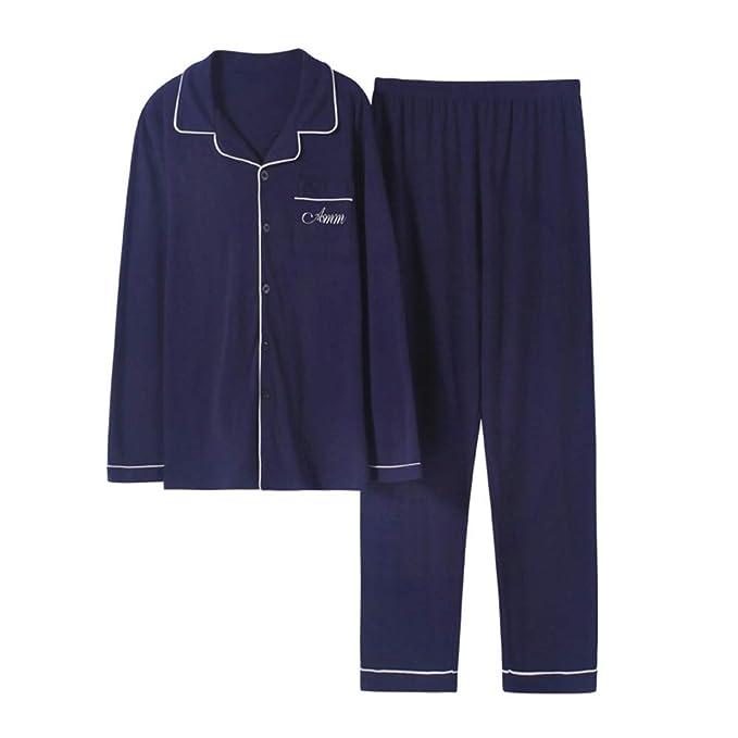 MEIXIA Batas De Baño Batas De Dormir Pijamas Loungewea Manga Larga para Hombres Algodón Primavera Y Otoño Jóvenes: Amazon.es: Ropa y accesorios