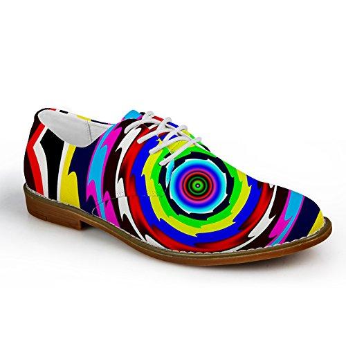 Knuffels Idee Klassiek Zwart En Wit Heren Oxford Flats Veterschoenen Felle Kleur 5