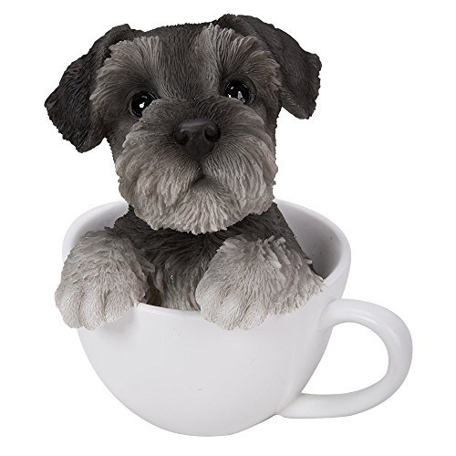 (Pacific Giftware Adorable Teacup Pet Pals Puppy Collectible Figurine 5.75 Inches (Schnauzer))