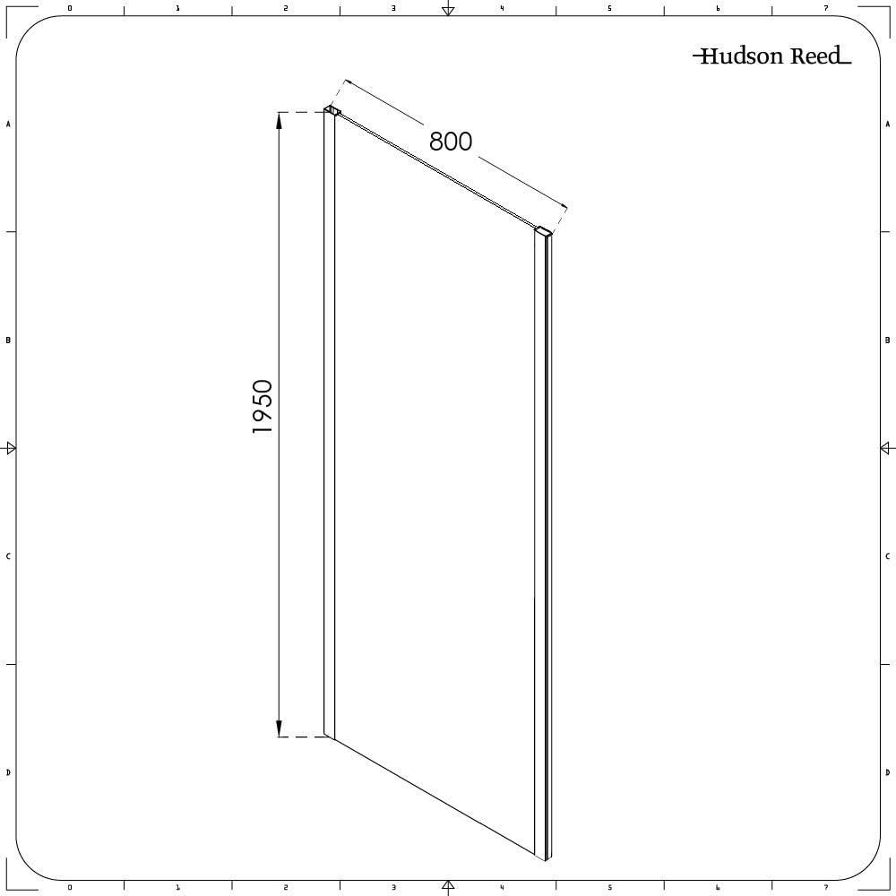 Hudson Reed – Mampara de Ducha Lateral Fijo 80 cm – Portland, Piel ...