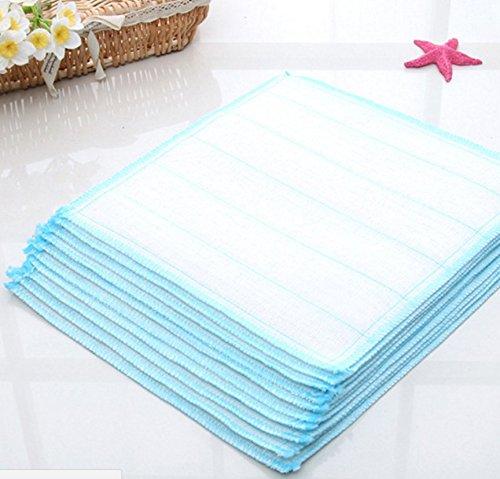 kimberleystore 4Stück Kitchen Mini-Multifunktions-Reinigung Gericht Waschen Handtuch–Blau