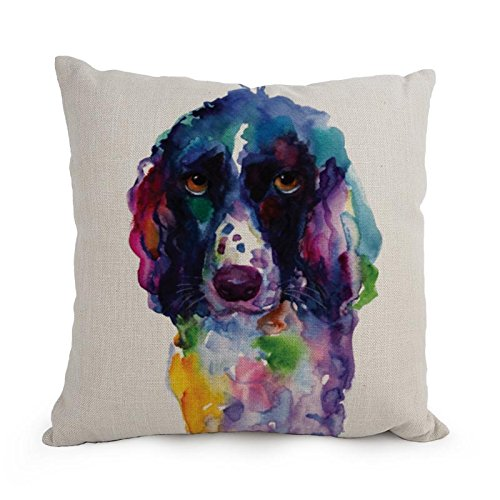 [Beautifulseason Dog Art WaterColor Cushion Covers 18 X 18 Inches / 45 By 45 Cm Best Choice For Family,dance Room,car Seat,kids,outdoor,lover With Each] (Shrek Dance Costume)