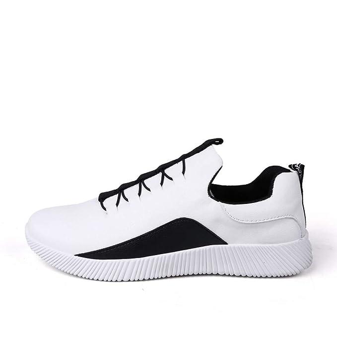 Zapatos Hombre Deportivos,ZARLLE Zapatos Casuales Botines con Cordones Color coincidente Hombres Running Malla Respirable Zapatillas Aptitud Ligero ...