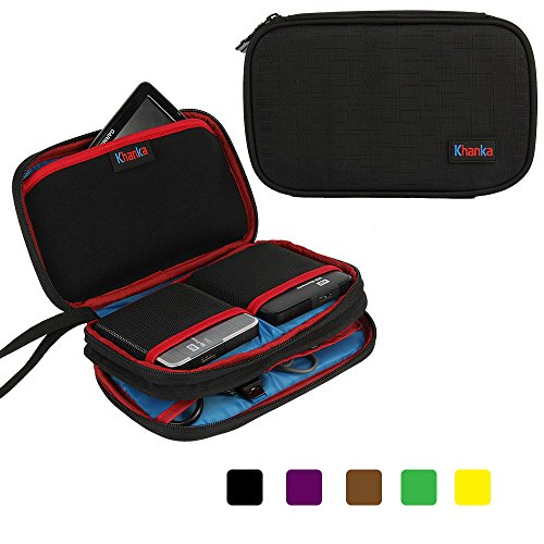 Khanka Universal Electronics Accessories Double Compartment Organizer Carry Case Bag For Hard drive,Sony PSVITA