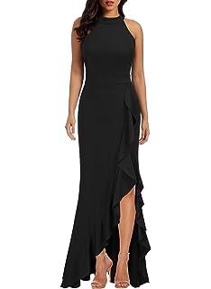 Berydress Women S Sleeveless Halter Neck A Line Casual Party Dress