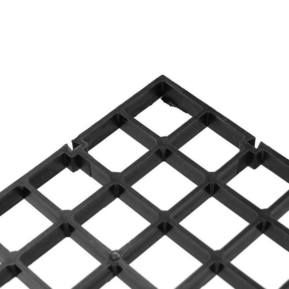 30 x 15 x 0.8cm Separador Neto de Pescados para el Acuario Malla Divisoria del Tanque del Acuario UKCOCO 4 Piezas Separador de Acuario Negro