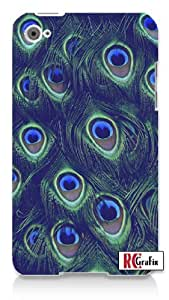 Sassy Colorful Peacock Feathers Skin Apple ipod 5 Ipod 5g Quality Hard Case Snap On Skin for ipod Gen 5 and 5, 5G (WHITE CASE)