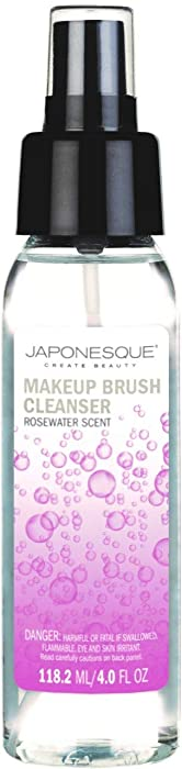 JAPONESQUE Makeup Brush Cleanser Rosewater Scent, 4oz