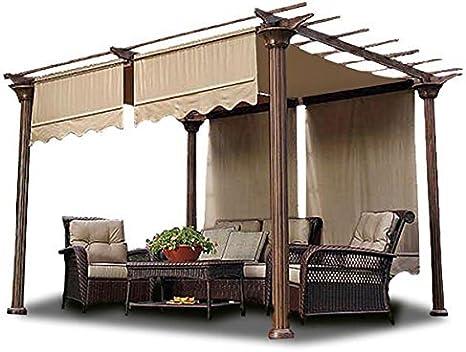 2 toldos de poliéster para Estructura de Patio de 15.5 x 4 pies, cobertor de Repuesto para Cenefa de jardín, Picnic, relajación: Amazon.es: Hogar