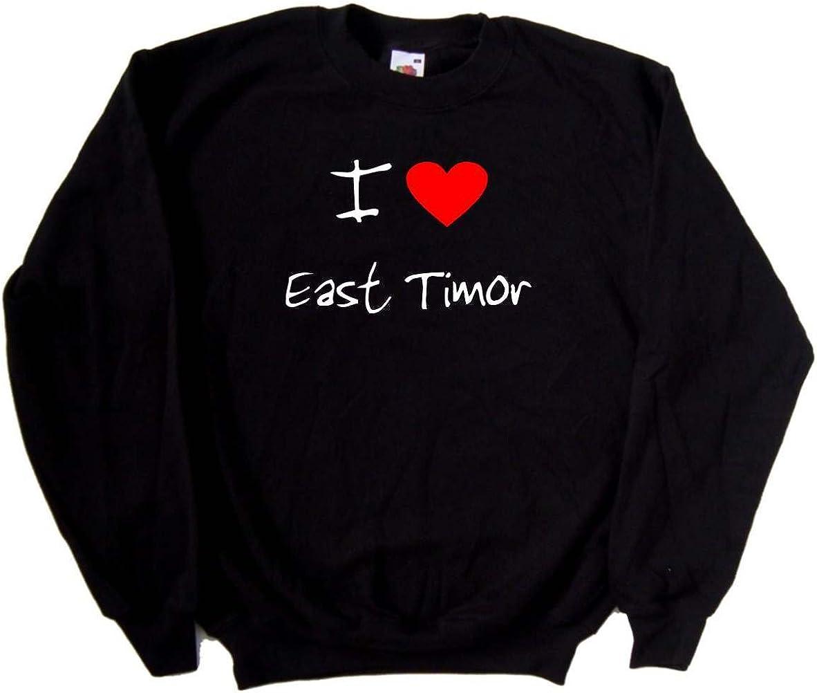 I Love Heart East Timor Black Sweatshirt