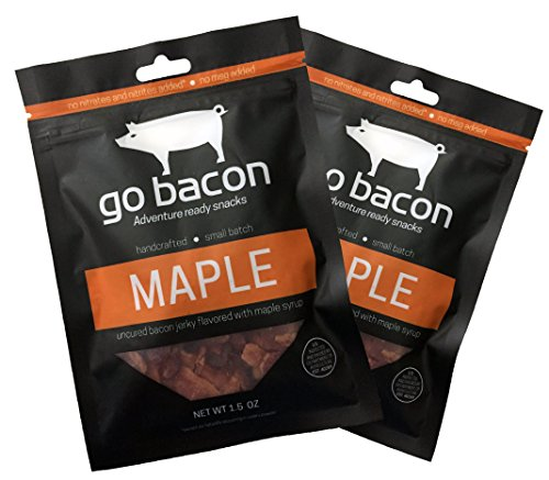 GoBacon - Premium Uncured Maple Bacon Jerky, Double Pack