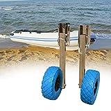 NICECHOOSE Boat Launching Wheels, Stainless Steel