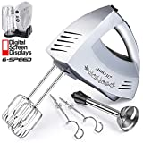 Hand Mixer Electric MOSAIC Kitchen Mixer 5 Stainless Steel Attachments...