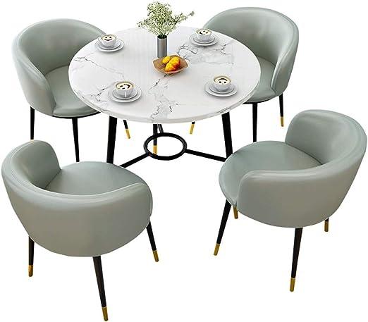 ZCXBHD Comedor y Conjunto sillas 5, Mesa Comedor Madera y Patas ...