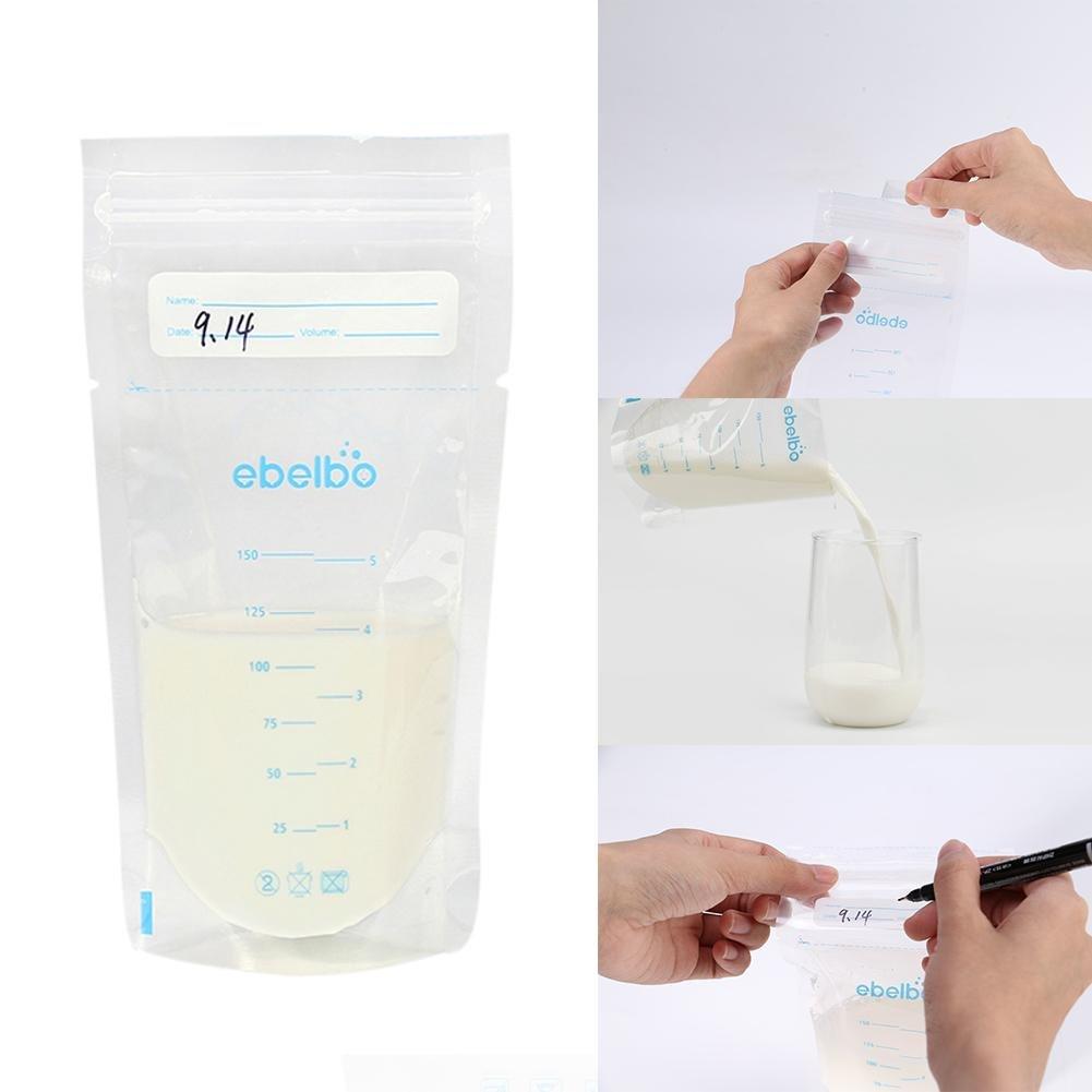 Muttermilchbeutel Hygienisch Auslaufsicher Platzsparend luckything 30 Beutel Muttermilch Aufbewahrungsbeutel 150 ml
