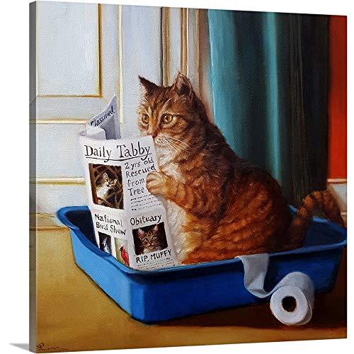 Lucia Heffernan Premium Thick-Wrap Canvas Wall Art Print Entitled Kitty Throne 16