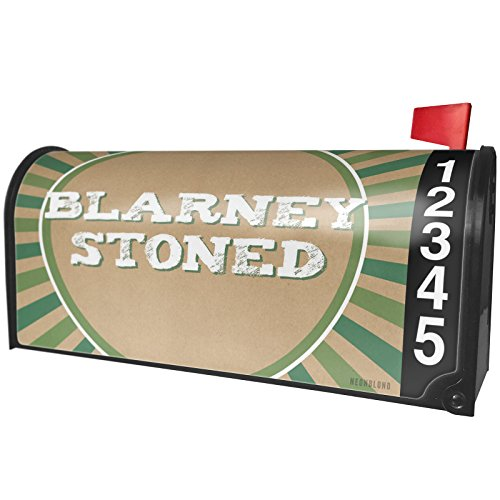 NEONBLOND Blarney Stoned St. Patrick's Day Retro Design Magnetic Mailbox Cover Custom (Stoned Designs)