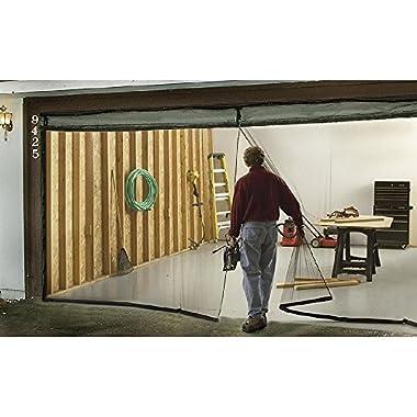 Garage Door Screen Single 7' x 8' Weighted Bottom Magnetic Bug