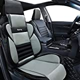 Big Ant Car Seat Covers, Breathable Car Interior Seat Cover Cushion Pad for Racing Sports Auto Supplies with PU Leather - Fit Most Car, Truck, SUV, or Van(Black & Gray)
