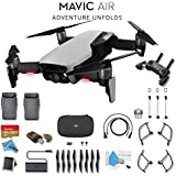 DJI Mavic Air (Arctic White) CP.PT.00000138.0 + DJI Intelligent Flight Battery for Mavic Air and Much More