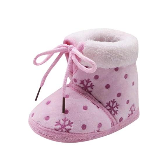 Primeros Pasos Zapatos De Bebé EUZeo Navidad Botas de Recien Niño Niña Zapatillas de Bebé Encaje hasta Zapatos Otoño Invierno Moda Suave Zapatos 0-18 Mes: ...